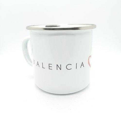 Taza metalica Valencia Enamora