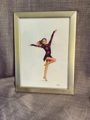 Kira Gold Framed Painting