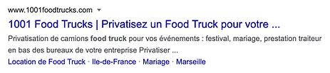 """Résultat recherche Google """"privatiser food truck"""""""