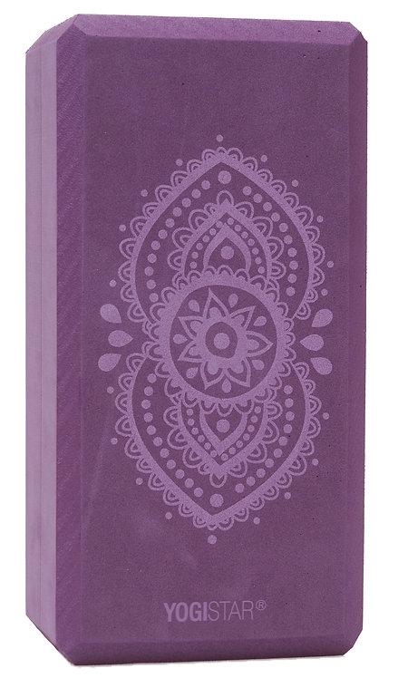 "Yogablock ""YOGISTAR yogiblock® basic - art collection - ajna chakra - aubergine"