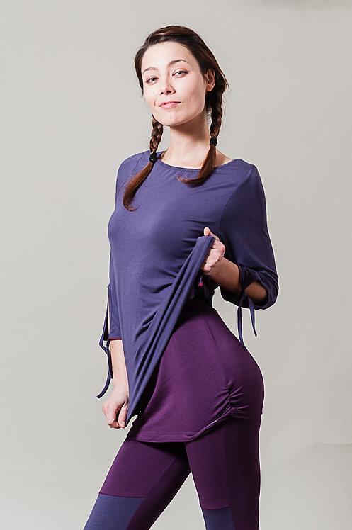 "Yoga Shirt ""YOGAMASTI Yoga Lounge Top"" - lavender"