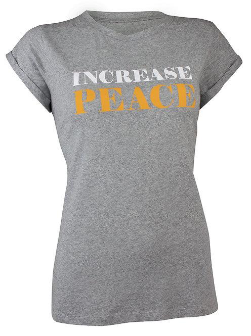 "Yoga T-Shirt ""Increase Peace"" - grey-melange"