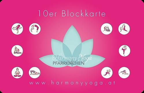 10er Blockkarte