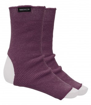 "Yoga-Socken ""YOGISTAR elderberry"" - Wolle (onesize)"