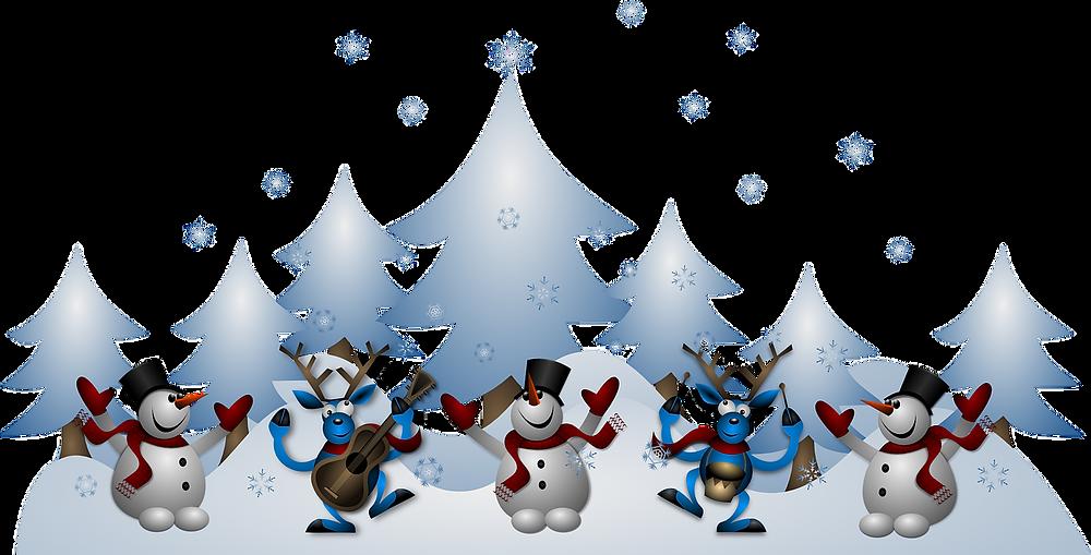 extérieur hiver jeux musique