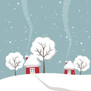 Maison hiver musique