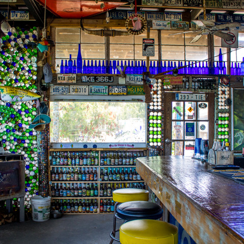 Walls of the Tiki Bar