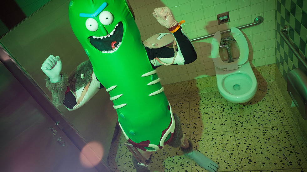 Pickle Rick: Who in the f@# toilet is this?? Print