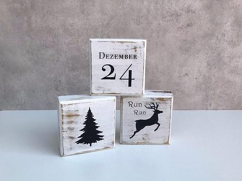 Blocks, Weihnachten mit 6 Motiven, weiß