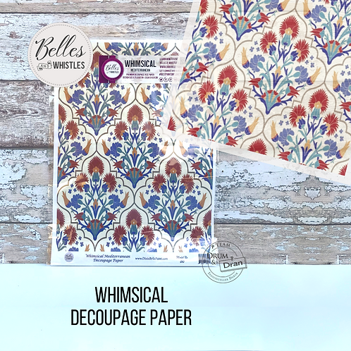 Whimsical Decoupage Paper- Reispapier