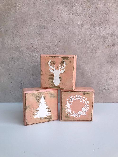 Blocks, Weihnachten mit 6 Motiven, blush