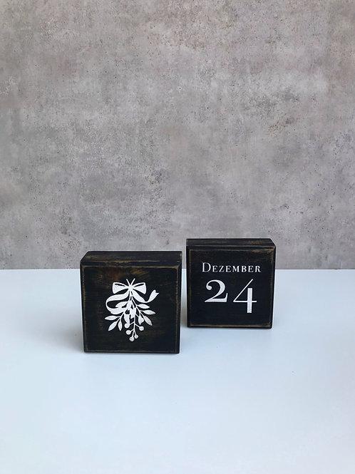 Blocks, Weihnachten mit 4 Motiven, schwarz