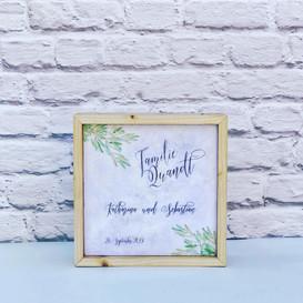 Personalisiertes Hochzeitsgeschenk Block