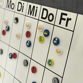 Personalisierte Magnetwand
