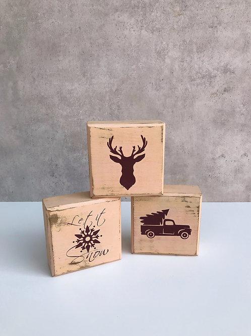 Blocks, Weihnachten mit 6 Motiven, nude