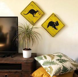 Boards Australian Road Sign Koala und Känguru