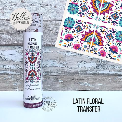 Latin Floral Transfer