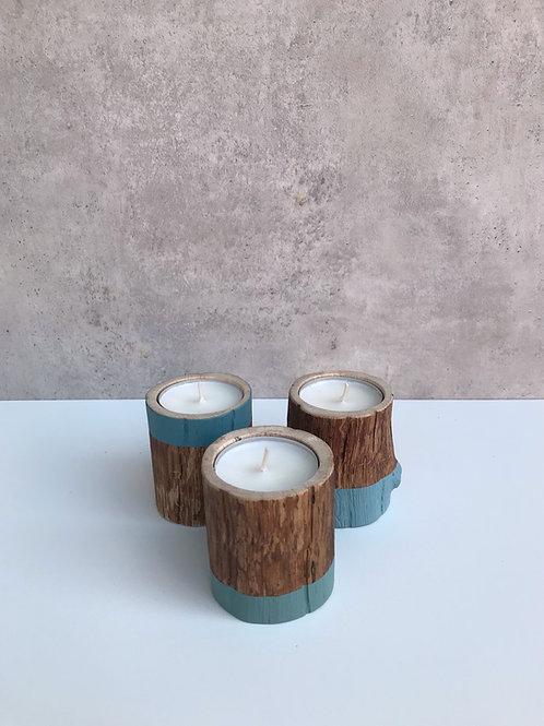 Dekor, Teelichthalter, blau