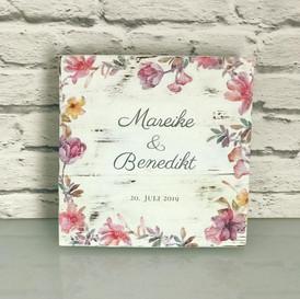 Personalisiertes Hochzeitsgeschenk Board