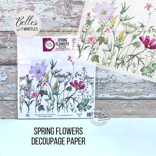 Spring Flowers Decoupage Paper- Reispapier