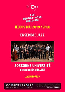 Affiche 9 Mai ENSEMBLE JAZZ UNIVERSITE.j