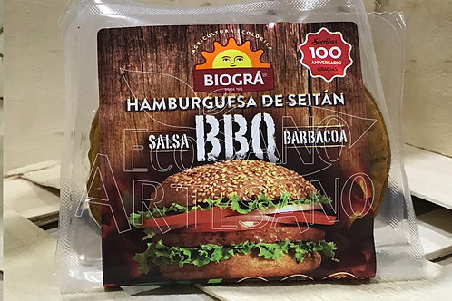 BURGUER VEGANA SEITÁN BBQ