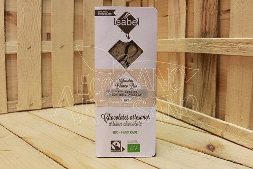 TABLETA CHOCOLATE BLANCO, CAFÉ Y NUEZ MOSCADA