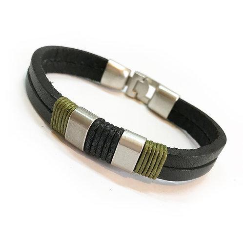 Neo Genuine Leather Bracelet R/B