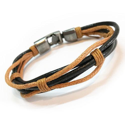 Rope Genuine Leather Bracelet B/R