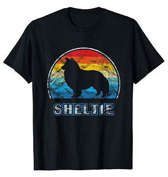 Vintage-Design-tshirt-Shetland-Sheepdog.