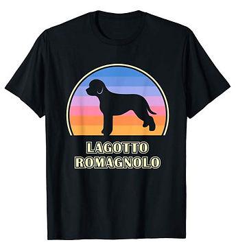 Vintage-Sunset-tshirt-Lagotto-Romagnolo.