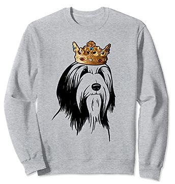Bearded-Collie-Crown-Portrait-Sweatshirt