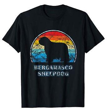 Vintage-Design-tshirt-Bergamasco-Sheepdo