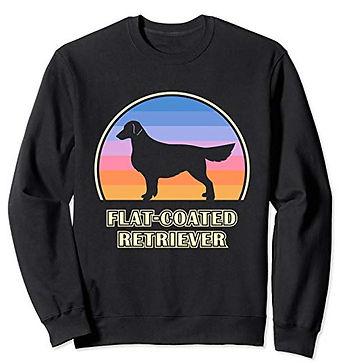 Vintage-Sunset-Sweatshirt-Flat-Coated-Re