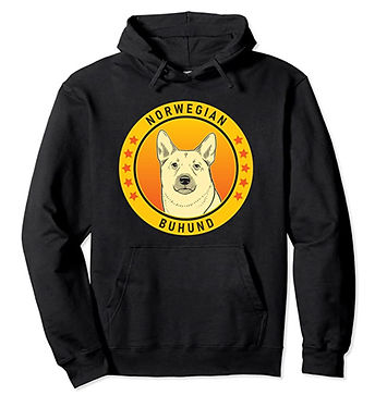 Norwegian-Buhund-Portrait-Yellow-Hoodie.