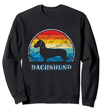 Vintage-Design-Sweatshirt-Smooth-Dachshu