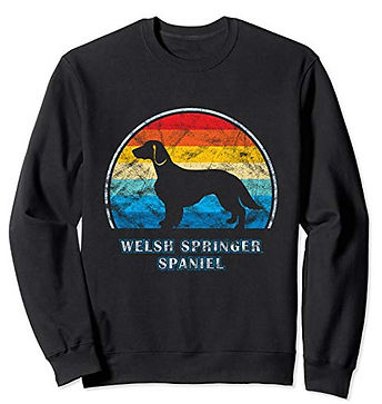 Vintage-Design-Sweatshirt-Welsh-Springer