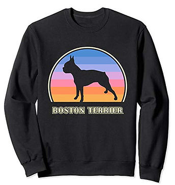 Vintage-Sunset-Sweatshirt-Boston-Terrier