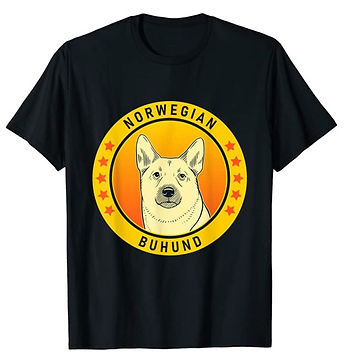 Norwegian-Buhund-Portrait-Yellow-tshirt.