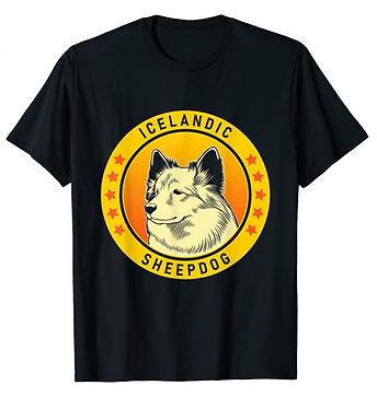Icelandic-Sheepdog-Portrait-Yellow-tshir