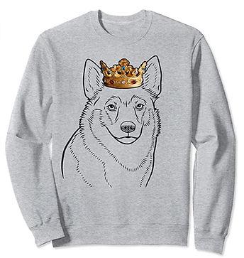 Swedish-Vallhund-Crown-Portrait-Sweatshi