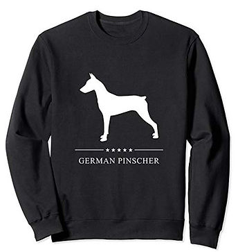 White-Stars-Sweatshirt-German-Pinscher-v
