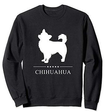 White-Stars-Sweatshirt-Longhaired-Chihua