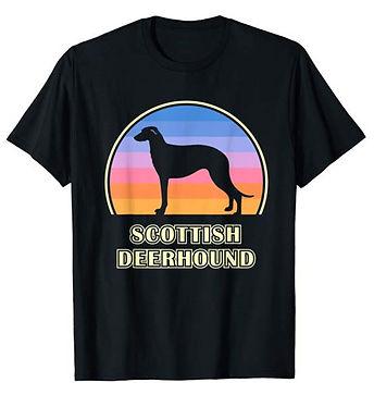 Vintage-Sunset-tshirt-Scottish-Deerhound