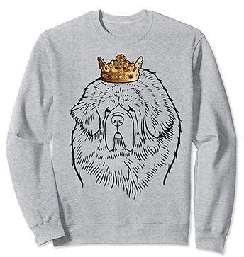 Tibetan-Mastiff-Crown-Portrait-Sweatshir