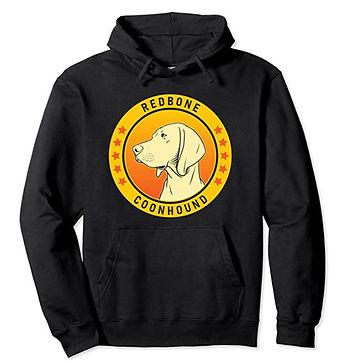 Redbone-Coonhound-Portrait-Yellow-Hoodie