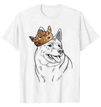Norwegian-Elkhound-Crown-Portrait-tshirt