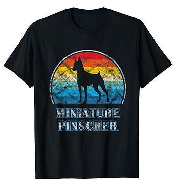 Vintage-Design-tshirt-Miniature-Pinscher