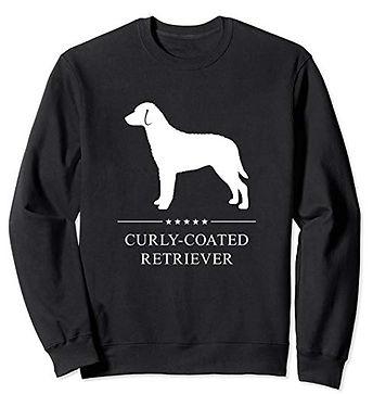 White-Stars-Sweatshirt-Curly-Coated-Retr