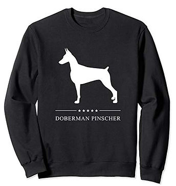 White-Stars-Sweatshirt-Doberman-Pinscher